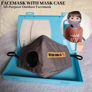 Gray Child Face Mask with Insert Kids Face Shield
